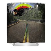 Road To Darkness Shower Curtain
