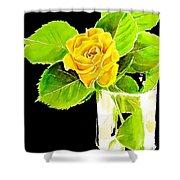 Rose In Vase Shower Curtain