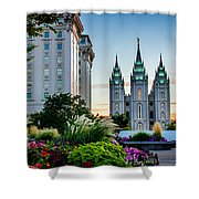 Slc Temple Js Building Shower Curtain