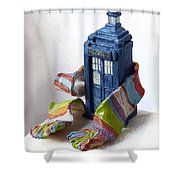 Tardis Ll Shower Curtain
