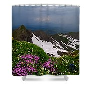 The Alps Wildflowers Shower Curtain