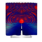 The Blue Avenue Shower Curtain