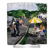 The Lemonade Stand Shower Curtain