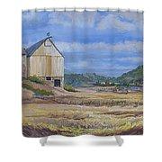 Trinidad Barn Colorado Shower Curtain