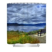 View From A Bench Shower Curtain