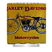 Vintage Harley Davidson Shower Curtain