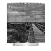 Walk To The Beach Alantic Beaches Nc Shower Curtain