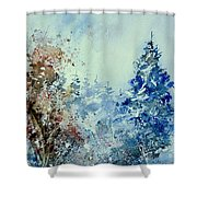 Watercolor  010307 Shower Curtain