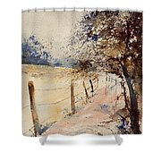 Watercolor  041106 Shower Curtain