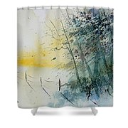 Watercolor  080708 Shower Curtain