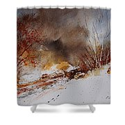 Watercolor  100508 Shower Curtain