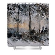 Watercolor  141206 Shower Curtain