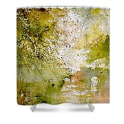 Watercolor  211005 Shower Curtain