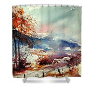 Watercolor 221108 Shower Curtain