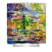 Watercolor 6878 Shower Curtain