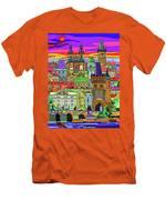 Prague Panorama Old Town Men's T-Shirt (Athletic Fit)