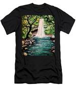 Mystical Waterfall Men's T-Shirt (Athletic Fit)