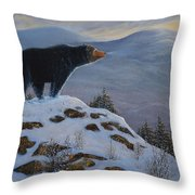 Last Look Black Bear Throw Pillow