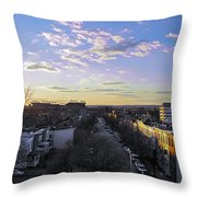 Sunset Row Homes Throw Pillow