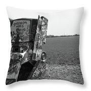 Route 66 - Cadillac Ranch Throw Pillow