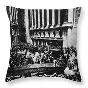 Wall Street Crash 1929 Throw Pillow