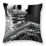 1930 Ford Quail Hood Ornament 3 Throw Pillow