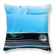 1968 Mustang Fastback Hood Throw Pillow
