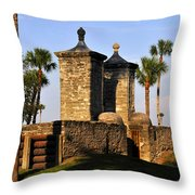 The Old City Gates Throw Pillow by David Lee Thompson