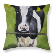 A Heifer Throw Pillow