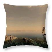 A Quiet Sail Throw Pillow