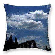 Abbey Skyline Throw Pillow