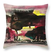 Abstract Twilight Landscape71 Throw Pillow
