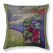 Apples On A Shoreline Throw Pillow