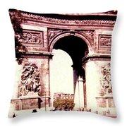 Arc De Triomphe 1955 Throw Pillow