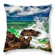 Blue Meets Green Throw Pillow
