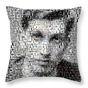 Bobby Fischer Chess Mosaic Throw Pillow by Paul Van Scott