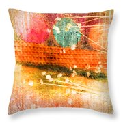 Branches And Brush Strokes Throw Pillow