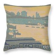 Brooklyn Bridge Late Afternoon Throw Pillow