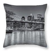 Brooklyn Bridge Twilight II Throw Pillow by Clarence Holmes