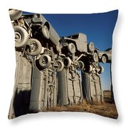 Carhenge In The Afternoon Throw Pillow