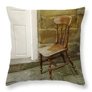 Chair And The Door Throw Pillow