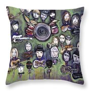 Chris Daniels And Friends Throw Pillow by Laurie Maves ART
