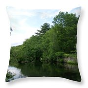 Clear River 1 Throw Pillow