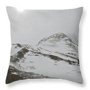 Columbia Icefields Throw Pillow