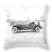 Convertible Antique Car Throw Pillow