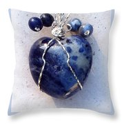 Don't Be Blue Throw Pillow