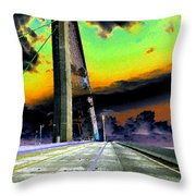 Dreaming Over The Skyway Throw Pillow by David Lee Thompson