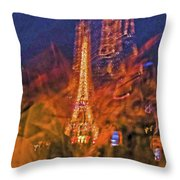 Eiffel On Bastille Day Abstract Throw Pillow