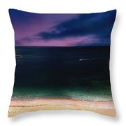 Evening On The Headland  Throw Pillow