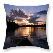 Evening Paddle On Spoon Lake Throw Pillow